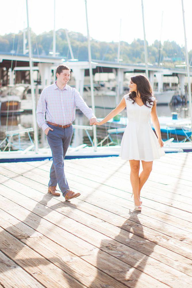 nautical themed engagement photos, seattle yacht club, seattle engagement photos, boat, sailing engagement photos