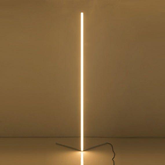 The Rue Minimalist Led Corner Floor Lamp White Corner Floor Lamp Floor Lamp White Floor Lamp