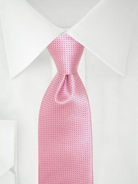 Stropdas roze microdots