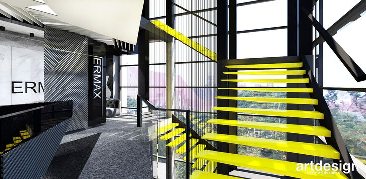 ERMAX   Wnętrza biurowe   projekt schodów