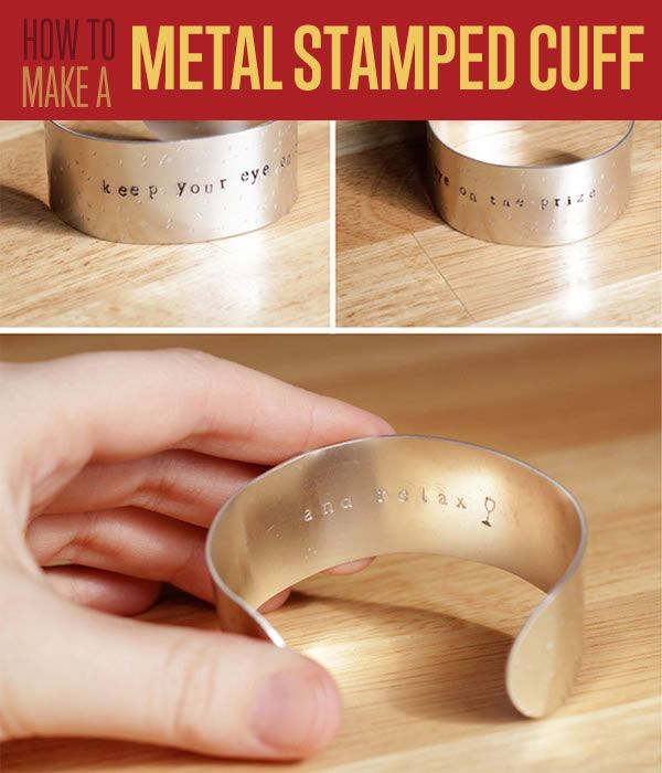 DIY Metal Stamping Jewelry - Metal Stamped Cuff | Want to create a beautiful metal craft? Check out our step by step tutorial on how to make this stuff! #DIYready www.diyready.com