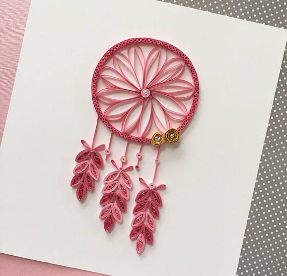 Quilling Dreamcatcher Wall Art And Nursery Decor For Kids Room | Etsy | Quilling Designs, Paper Quilling, Paper Quilling Designs
