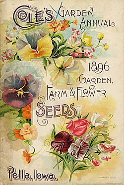 1896 print from the plethora of Smithsonian Institution Libraries Seed Catalogs ~ this is one from several of the 'Cole' company's selection.