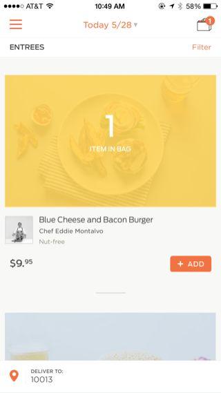 Munchery iPhone feed screenshot