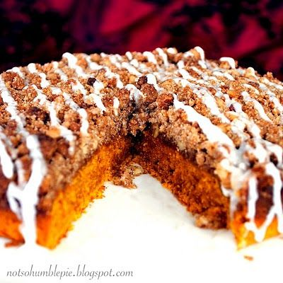 Not So Humble Pie: Pumpkin Coffee Cake & A Giveaway!