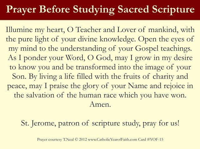 Prayer Before Studying Sacred Scripture
