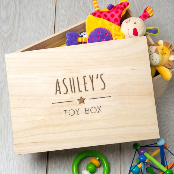 Personalised Wooden Toy Box | hardtofind.