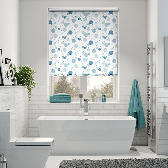 Great Splash Bubbles Blue Roller Blind