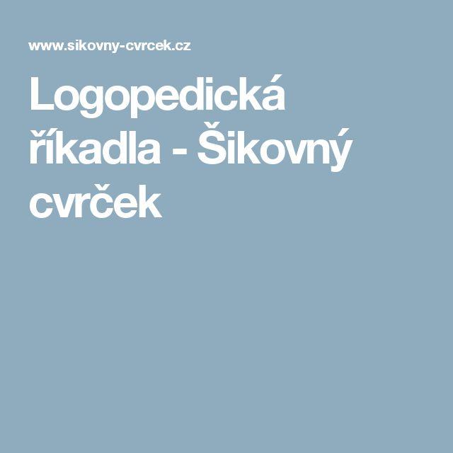 Logopedická říkadla - Šikovný cvrček