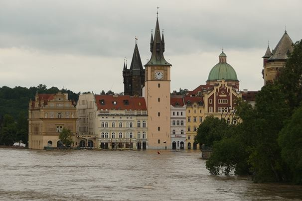 Prager Altstadt überschwemmt
