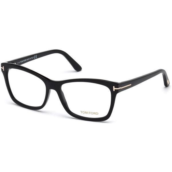 Tom Ford Square Optical Frames ($345) ❤ liked on Polyvore featuring accessories, eyewear, eyeglasses, black, clear eyewear, tom ford glasses, acetate glasses, clear lens glasses and clear glasses