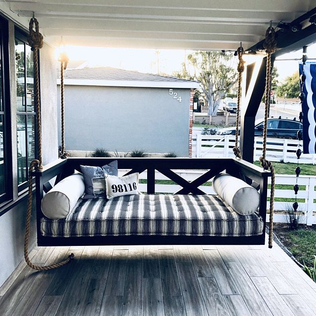 Sunbrella Custom Daybed Cushion Queen Bed Size Porch