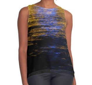 Reflections Contrast Tank by Emily Pigou  #summerclothing #sunset #sunsettanktop #summervacations #tanktop #summer2016 #summerfashion #giftsforher #gifts #giftsforteens #summergifts #womensfashion #hipster #colorful #style #swag #summertanktop #buytanktops