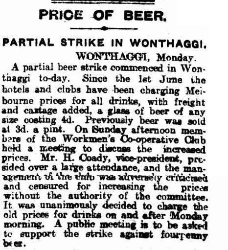 Members criticise rise in price from 3d to 4d. Prices are returned to 3d. The Age 6 June 1916.