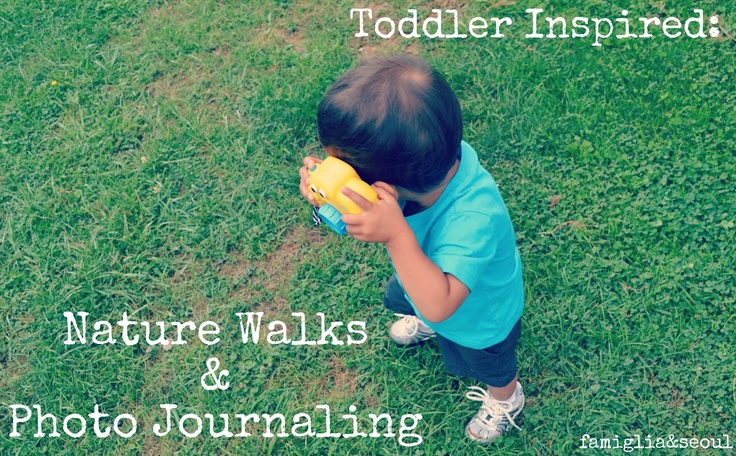 Love this idea! Toddler Inspired: Nature Walks & Photo Journaling