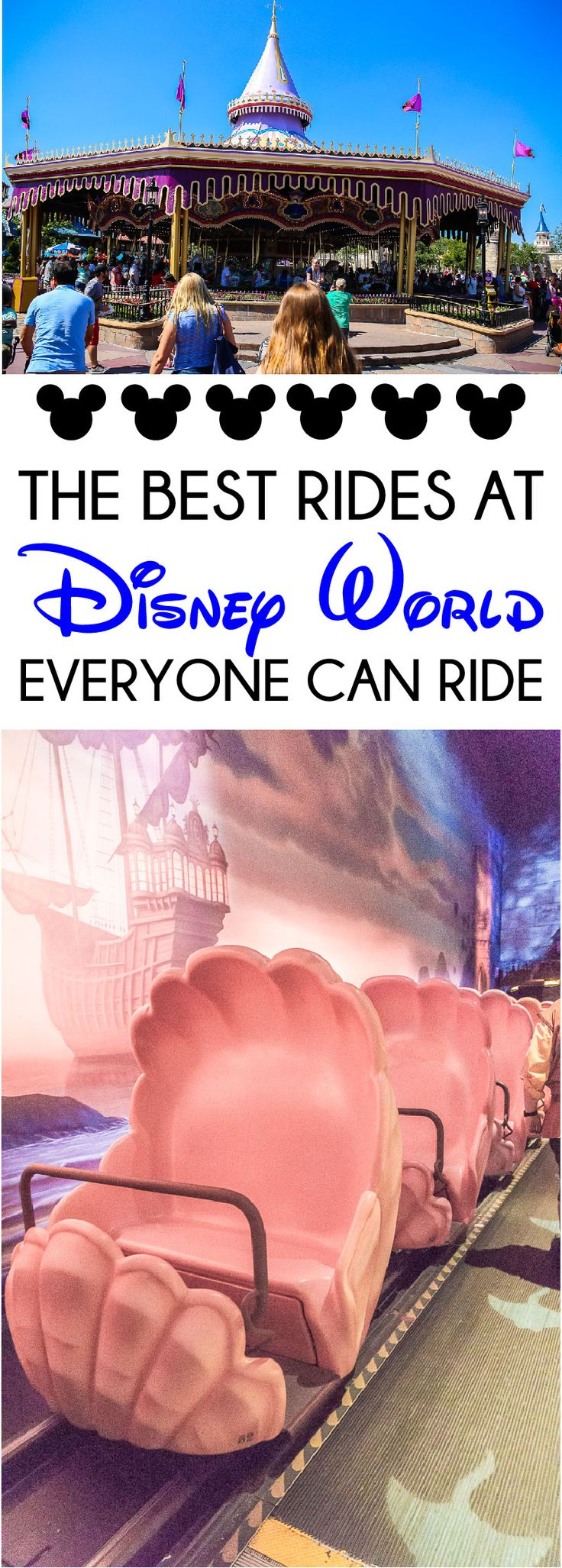 The ultimate guide to rides at Walt Disney World for all ages including kids, parents, and even grandparents!