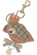 Faux patent leather parrot keychain