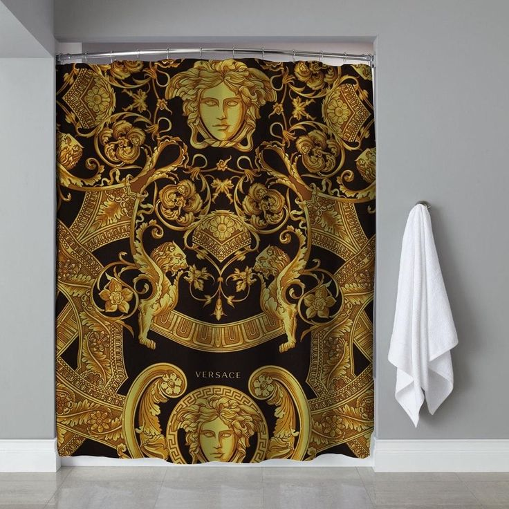 Versace Gold Edition Shower Curtain High Quality 60 x 72 #Unbranded #Modern #Cheap #New #Best #Seller #Design #Custom #Gift #Birthday #Anniversary #Friend #Graduation #Family #Hot #Limited #Elegant #Luxury #Sport #Special #Hot #Rare #Cool #Top #Famous #Shower #Curtain