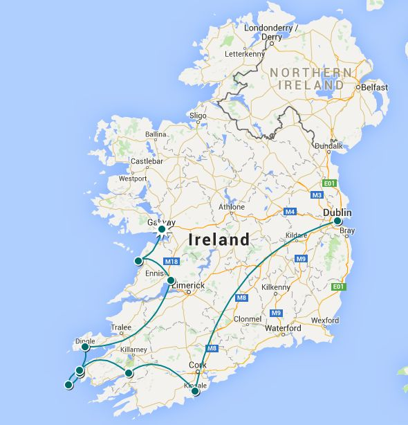 Flirting with the Globe - Ireland road trip itinerary
