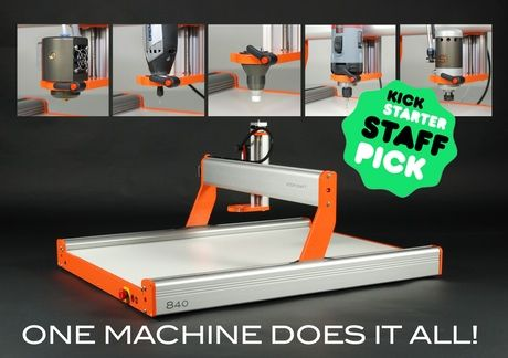 Stepcraft universal desktop CNC solution. Turn your ideas into reality - CNC milling, 3D Printing, Laser Cut/Engraving and much more!