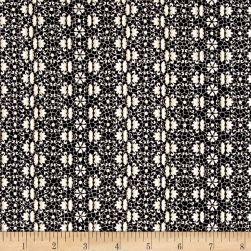 Burlap and Lace Lacey Stripe Black