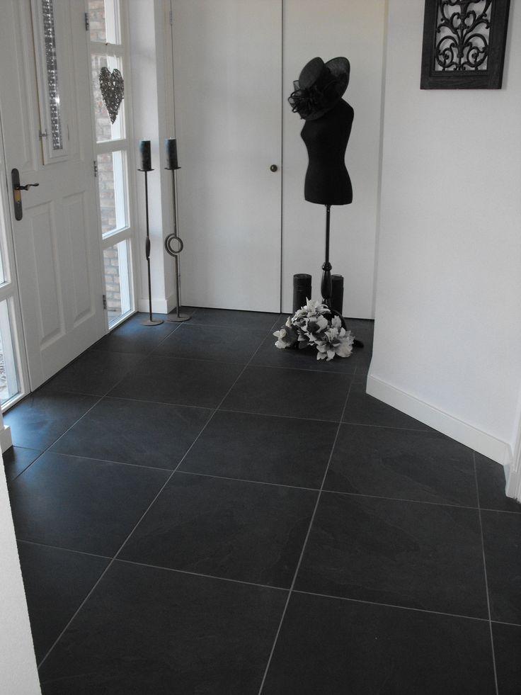 Keramische vloertegel antraciet 60x60