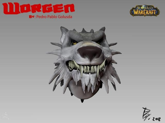 Worgen Head Turntable by Dreyco Golusda. This was my first work in Zbrush 4.0. Is a worgen head from world of warcraft game.