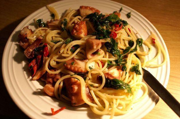 Spaghetti con il polpo