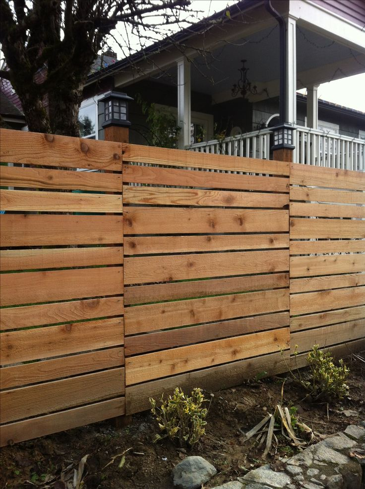 Horizontal fence exterior design pinterest the for Garden decking fencing