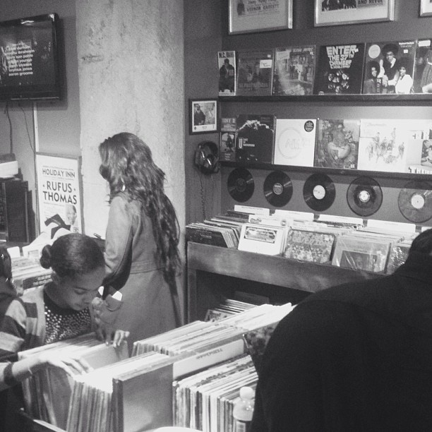 Never too early to start visiting the record store!