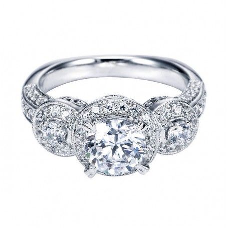 Engagement Ring: Three-Diamond Setting #vintage #jewelry