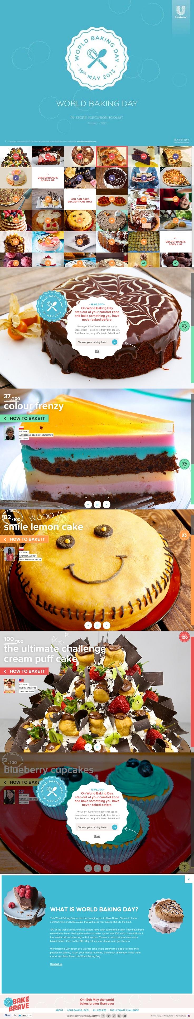 Bake Brave - World Baking Day http://www.awwwards.com/web-design-awards/bake-brave-world-baking-day #webdesign #inspiration #UI #Clean #ResponsiveDesign #CSS3 #Animation #HTML5 #Design #Red #Blue