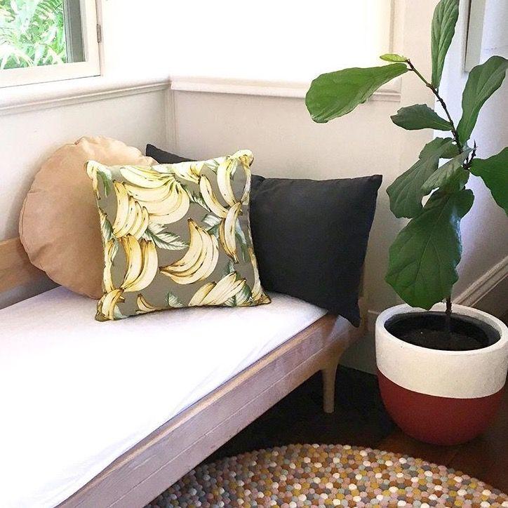 B A N A N A S 🍌  Banana cushion by A Colourful Life Byron Bay