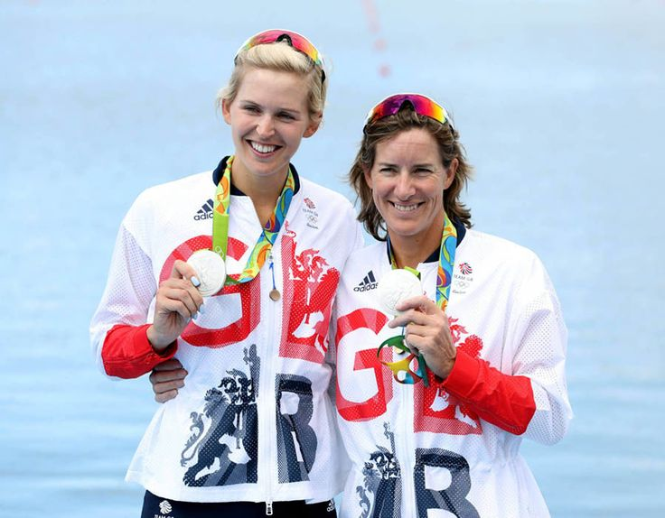 Great Britain's Katherine Grainger and Victoria Thornley with their silver…