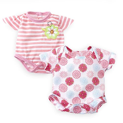 You Amp Me 12 14 Inch Baby Doll 2 Pack Bodysuit Set Pink