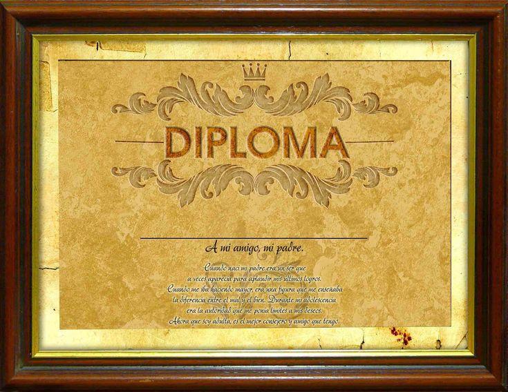 Formatos de diplomas editables - Imagui