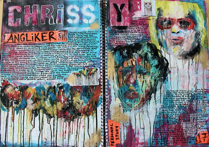Sketchbook Pages : Chrissy Angliker (Artist Research)