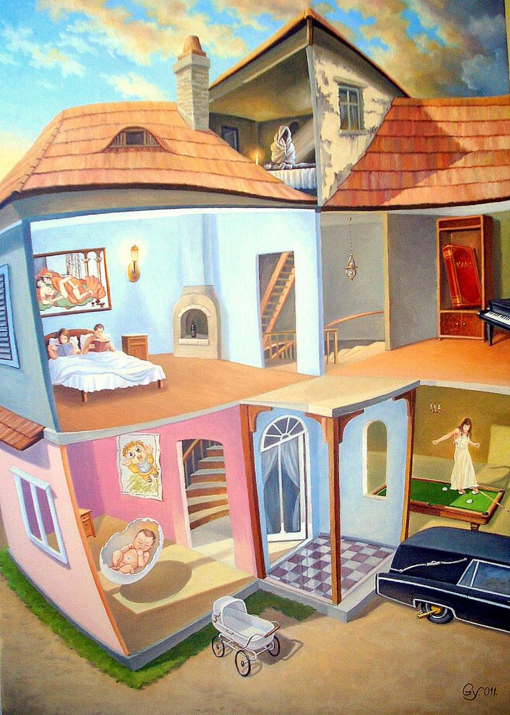 Ages by gyurka #art #oil #canvas #paintings #sale #original #surreal #symbolic #symbolism #fantasy #conceptual #realism #surrealism #world #music #religion #sky #belief #phylosophy #mythology