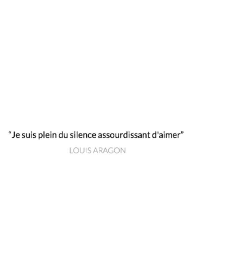 Je suis plein du silence assourdissant d'aimer. - Louis Aragon