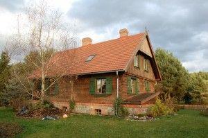 Drewniany dom w Przesiekach