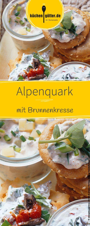 Rezept für feinen Alpenquark mit Brunnenkresse und Schnittlauch.