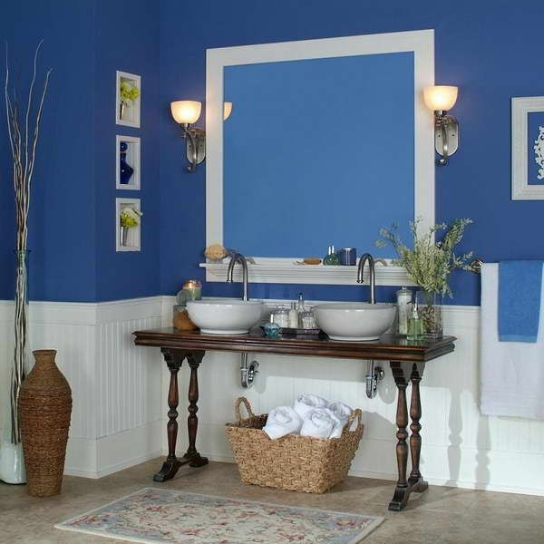 Blue Wainscoting: Wainscoting In Bathroom Ideas