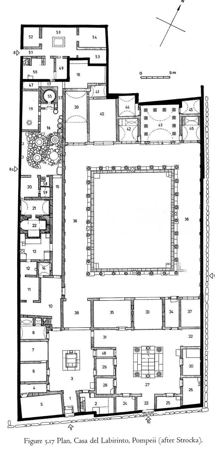 251 best plans images on pinterest architecture plan floor premoderno casa del laberinto pompeya italia 62 ac