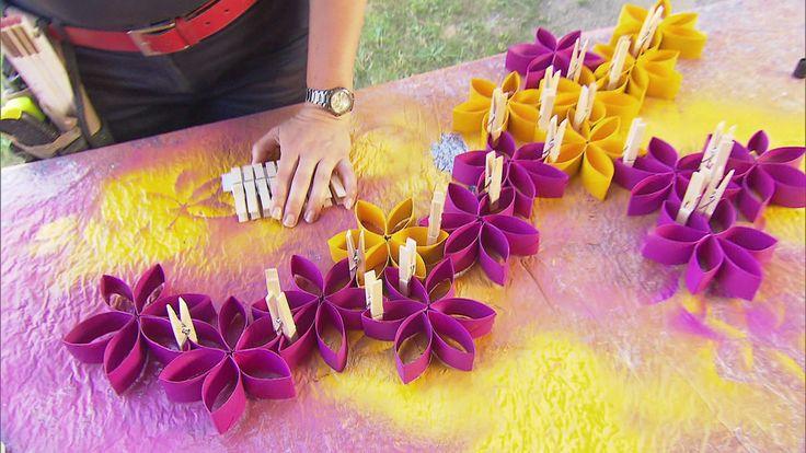 Zuhause im Glück - Basteltipp - Blüten-Wanddeko