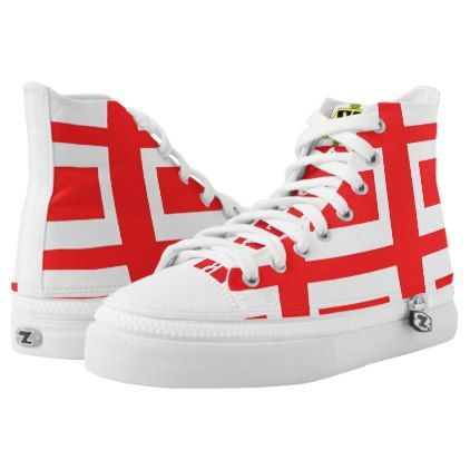Zooted Red & white High Tops Z's - individual customized designs custom gift ideas diy