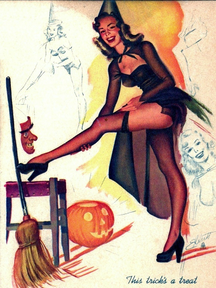 Retro Halloween Pin-Up