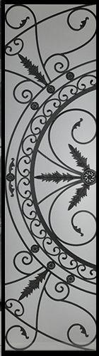 Wrought Iron Door Inserts - Belton 22x80