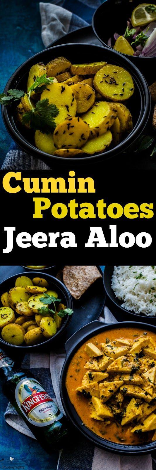 Jagruti's Cooking Odyssey: Cumin Potatoes - Jeera Aloo - National Curry Week 2016