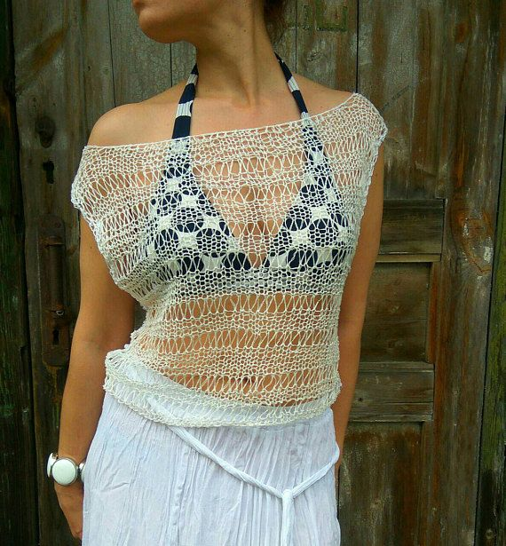 Check out this item in my Etsy shop https://www.etsy.com/ru/listing/528343589/linen-lace-knit-top-swimsuit-lace-cover