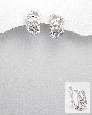 silver vogue - Two-Hearts CZ Earrings, $30.00 (http://www.silvervogue.com.au/two-hearts-cz-earrings/)